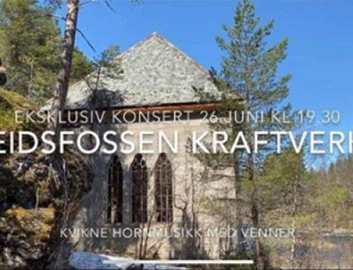 Konsert i gamle Eidsfossen Kraftverk