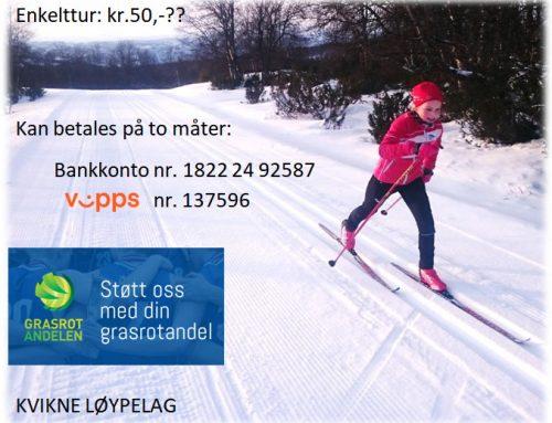 Vil du gi et bidrag til skiløypene våre på Kvikne?